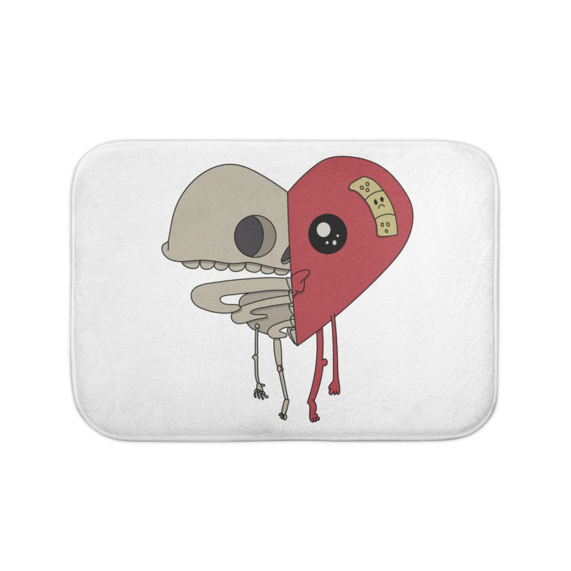 Skele Heart Home Bath Mat by Depressed Monsters