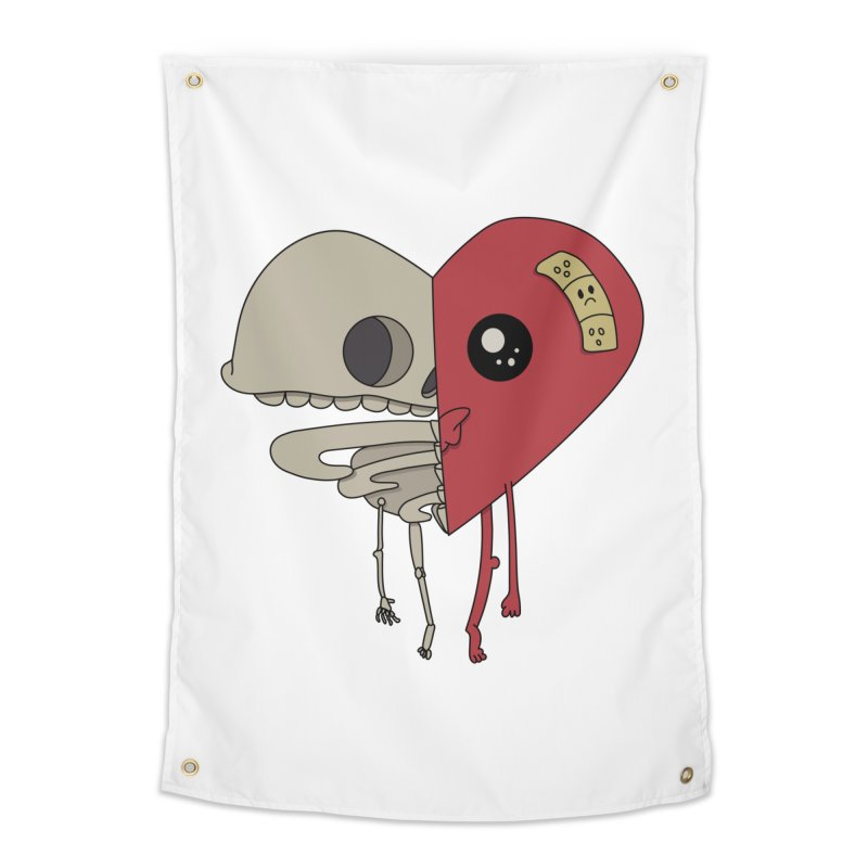 Skele Heart Home Tapestry by Depressed Monsters