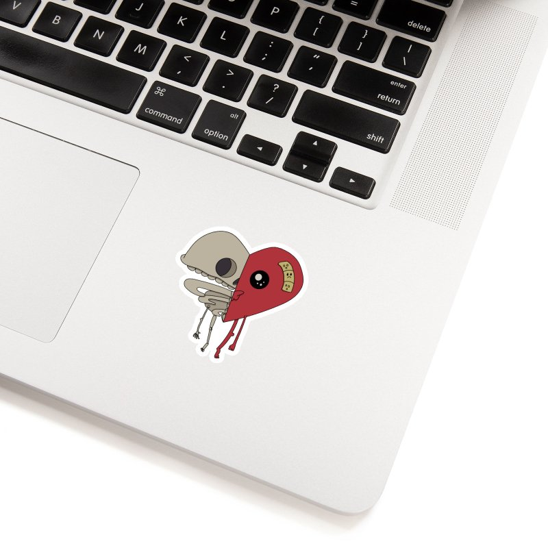 Skele Heart Accessories Sticker by Depressed Monsters