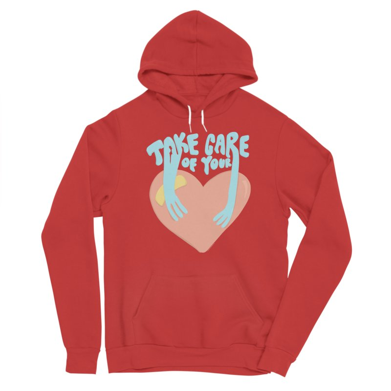 Take Care Of Your Heart© Women's Pullover Hoody by Depressed Monsters