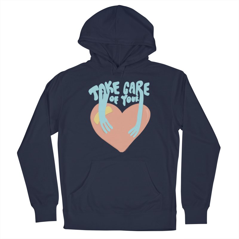 Take Care Of Your Heart© Men's Pullover Hoody by Depressed Monsters