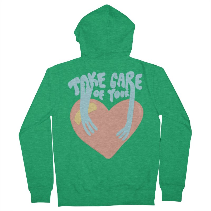 Take Care Of Your Heart© Women's Zip-Up Hoody by Depressed Monsters