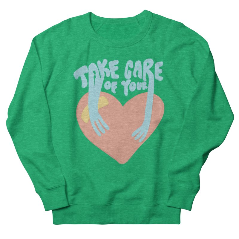 Take Care Of Your Heart© Women's Sweatshirt by Depressed Monsters