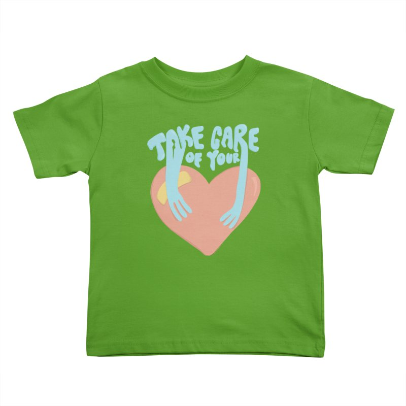 Take Care Of Your Heart© Kids Toddler T-Shirt by Depressed Monsters