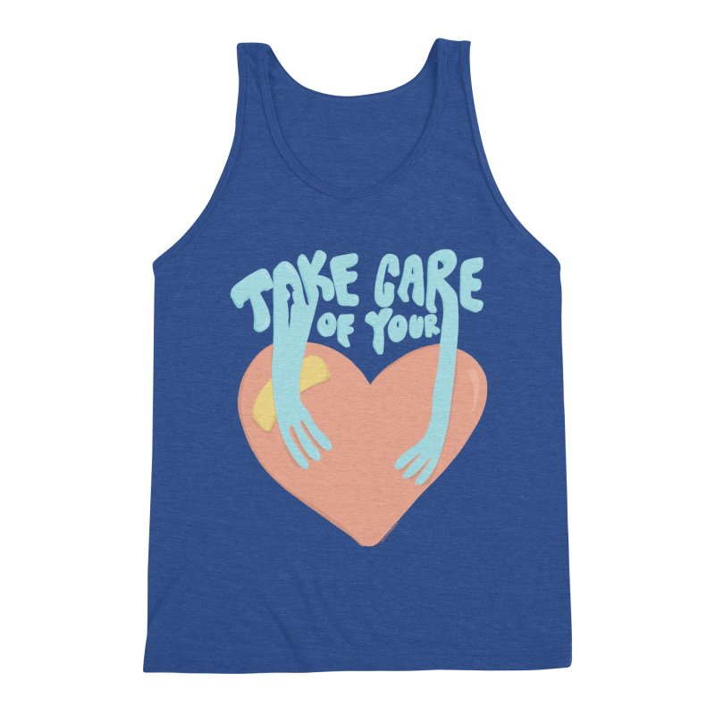 Take Care Of Your Heart© Men's Tank by Depressed Monsters