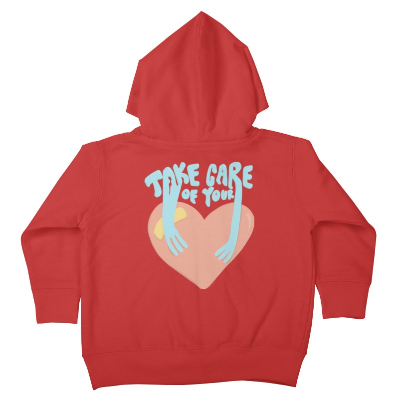 Take Care Of Your Heart© Kids Toddler Zip-Up Hoody by Depressed Monsters