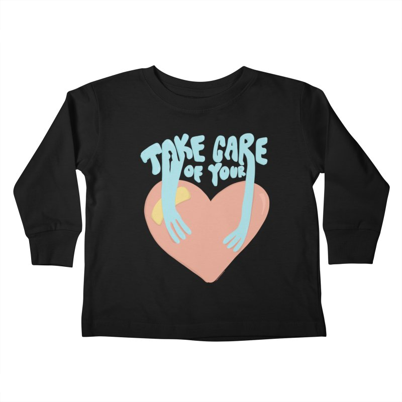 Take Care Of Your Heart© Kids Toddler Longsleeve T-Shirt by Depressed Monsters