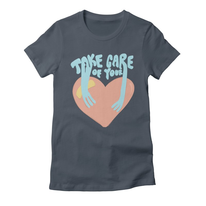 Take Care Of Your Heart© Women's T-Shirt by Depressed Monsters