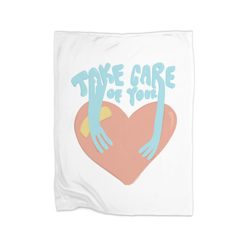 Take Care Of Your Heart© Home Blanket by Depressed Monsters