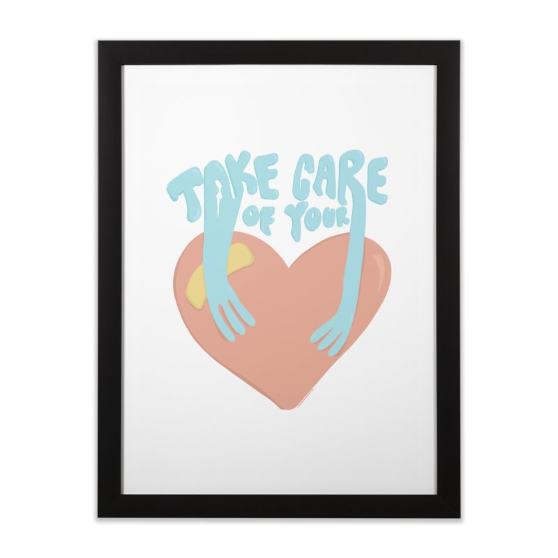 Take Care Of Your Heart© Home Framed Fine Art Print by Depressed Monsters