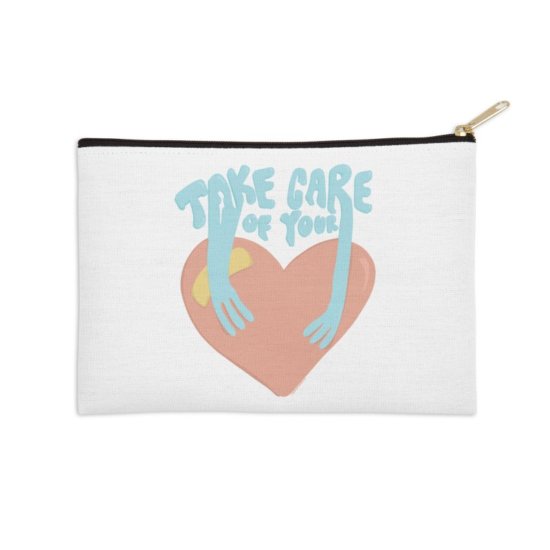 Take Care Of Your Heart© Accessories Zip Pouch by Depressed Monsters