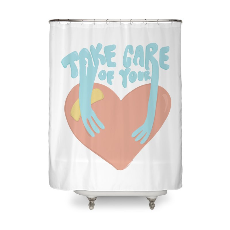 Take Care Of Your Heart© Home Shower Curtain by Depressed Monsters
