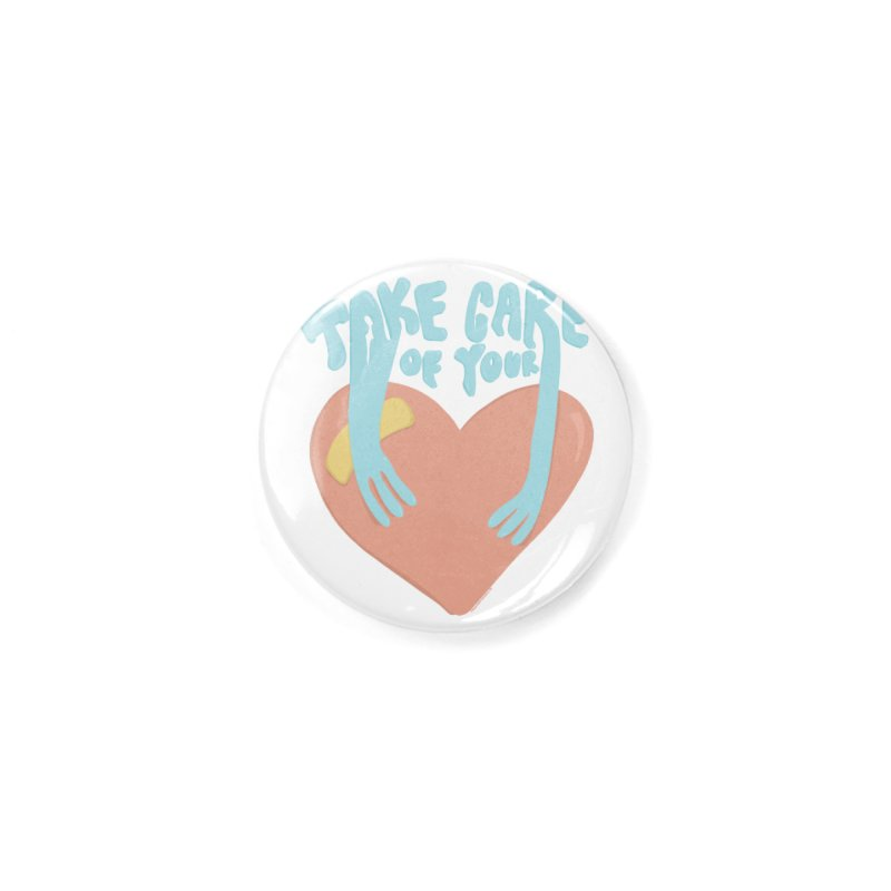 Take Care Of Your Heart© Accessories Button by Depressed Monsters
