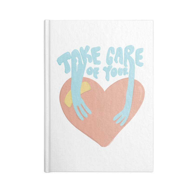 Take Care Of Your Heart© Accessories Notebook by Depressed Monsters