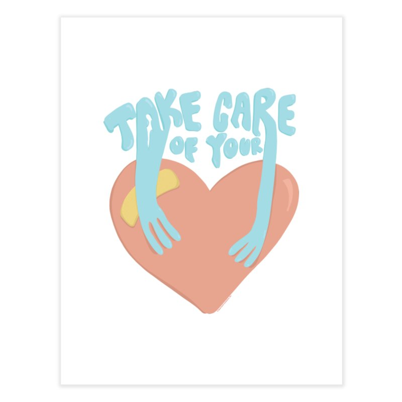 Take Care Of Your Heart© Home Fine Art Print by Depressed Monsters