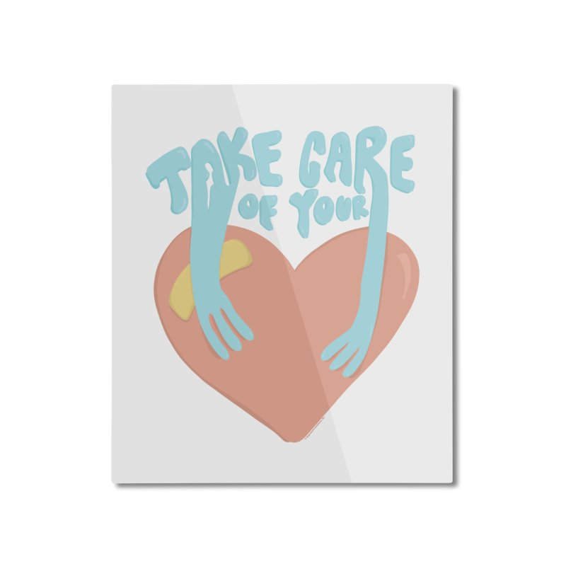 Take Care Of Your Heart© Home Mounted Aluminum Print by Depressed Monsters
