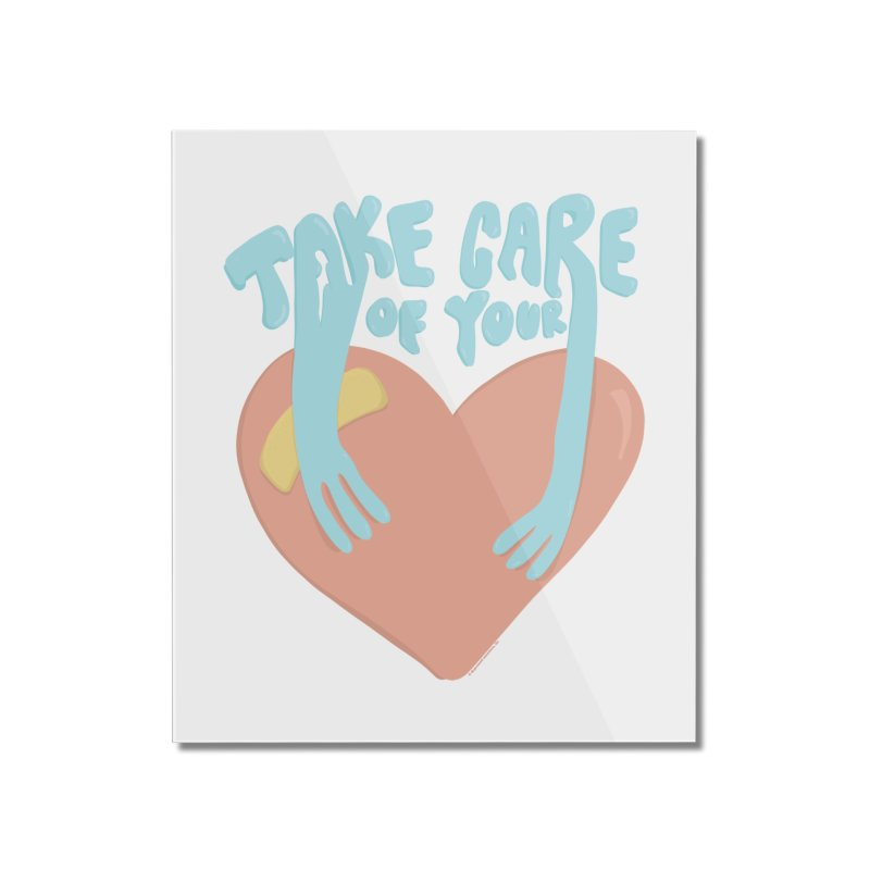 Take Care Of Your Heart© Home Mounted Acrylic Print by Depressed Monsters
