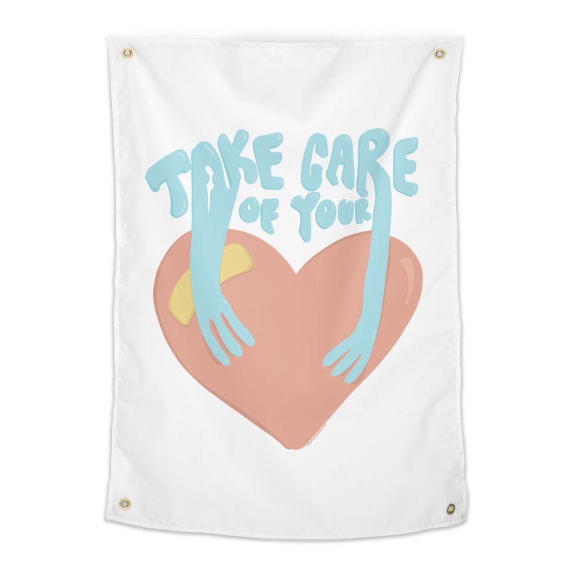 Take Care Of Your Heart© Home Tapestry by Depressed Monsters