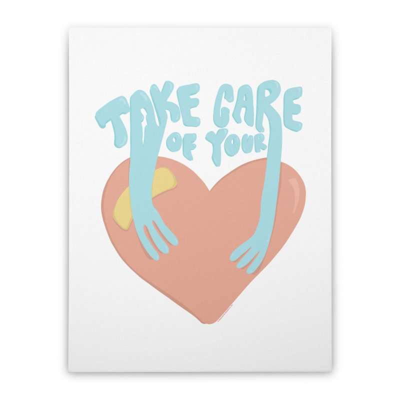 Take Care Of Your Heart© Home Stretched Canvas by Depressed Monsters