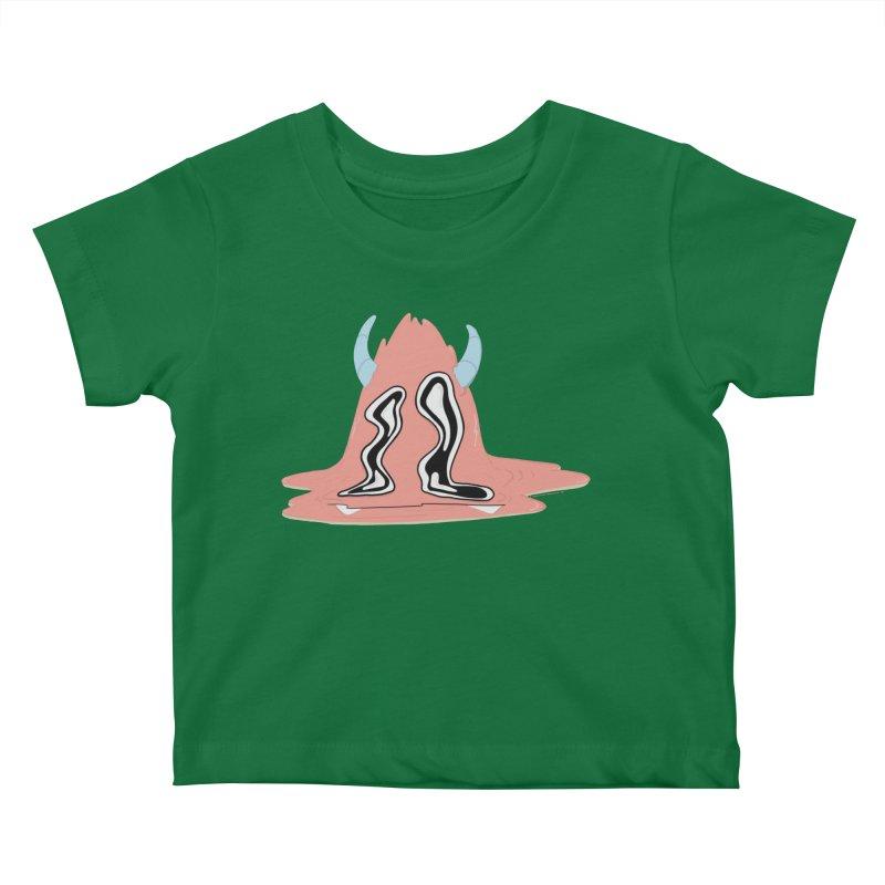 Melting Yerman© Kids Baby T-Shirt by Depressed Monsters