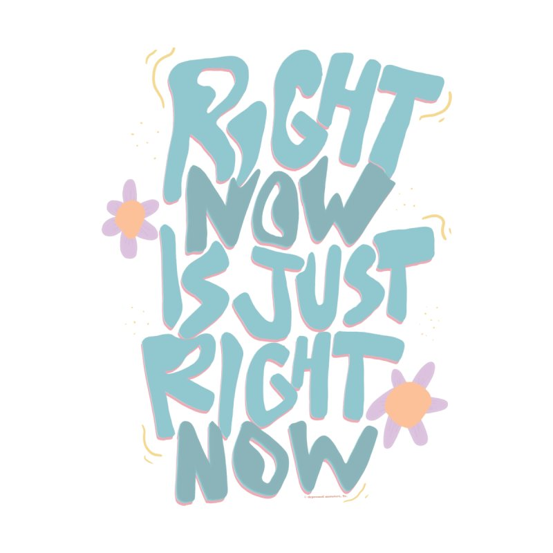 Right Now Is Just Right Now© Kids Baby Longsleeve Bodysuit by Depressed Monsters