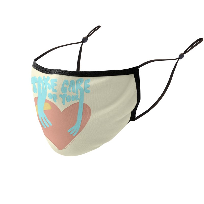 Take Care of Your Heart Face Mask Accessories Face Mask by Depressed Monsters