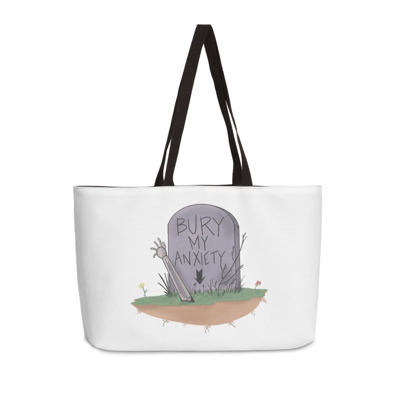 Bury My Anxiety© by Ryan Brunty Accessories Bag by Depressed Monsters