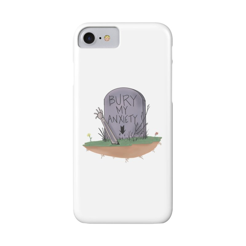Bury My Anxiety© by Ryan Brunty Accessories Phone Case by Depressed Monsters