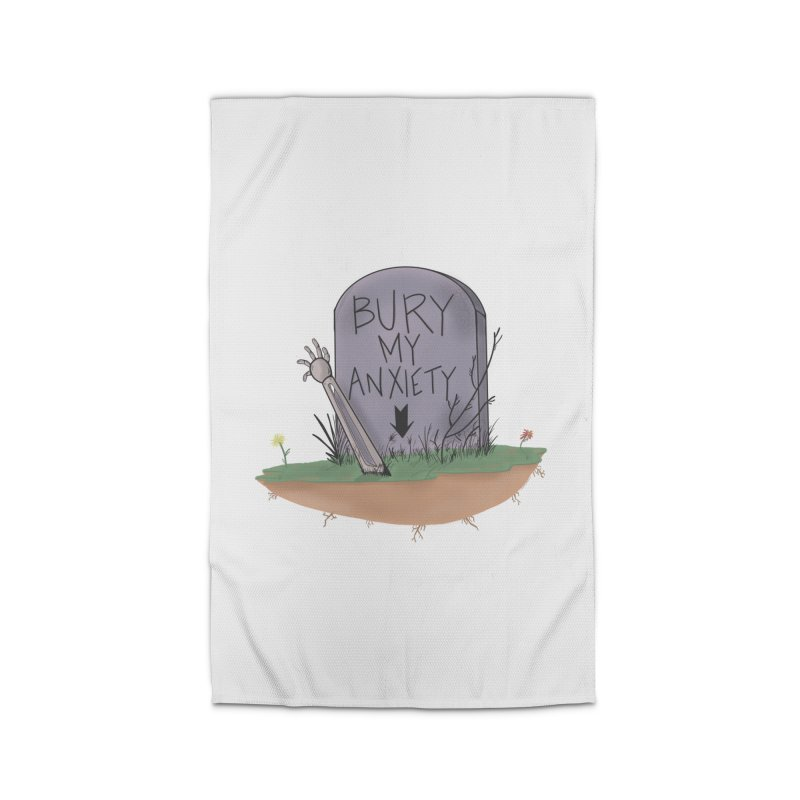 Bury My Anxiety© by Ryan Brunty Home Rug by Depressed Monsters