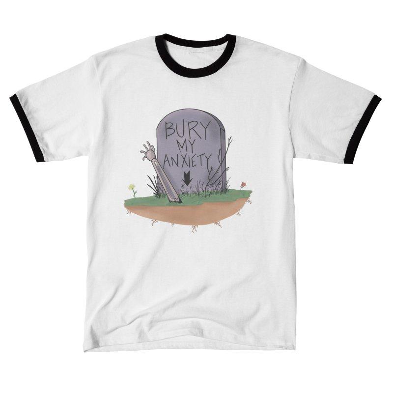 Bury My Anxiety© by Ryan Brunty Men's T-Shirt by Depressed Monsters