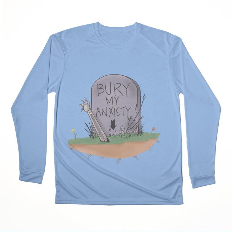 Bury My Anxiety© by Ryan Brunty Women's Longsleeve T-Shirt by Depressed Monsters