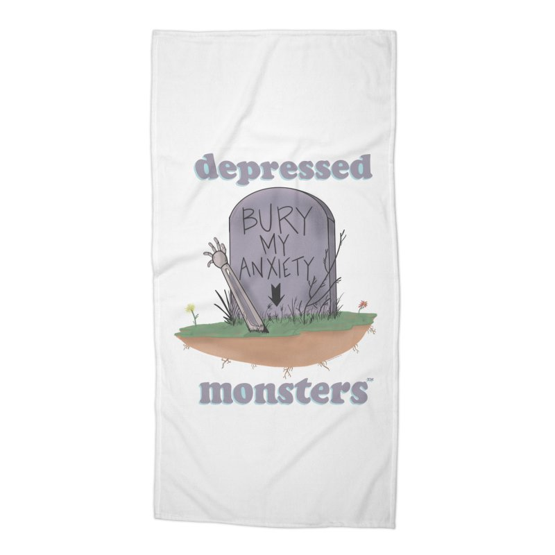 Bury My Anxiety Logo Tee by Ryan Brunty Accessories Beach Towel by Depressed Monsters