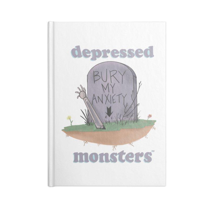 Bury My Anxiety Logo Tee by Ryan Brunty Accessories Notebook by Depressed Monsters