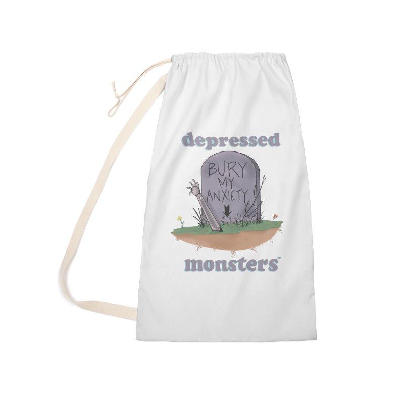 Bury My Anxiety Logo Tee by Ryan Brunty Accessories Bag by Depressed Monsters
