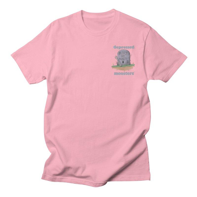 Bury My Anxiety Logo Tee by Ryan Brunty Men's T-Shirt by Depressed Monsters