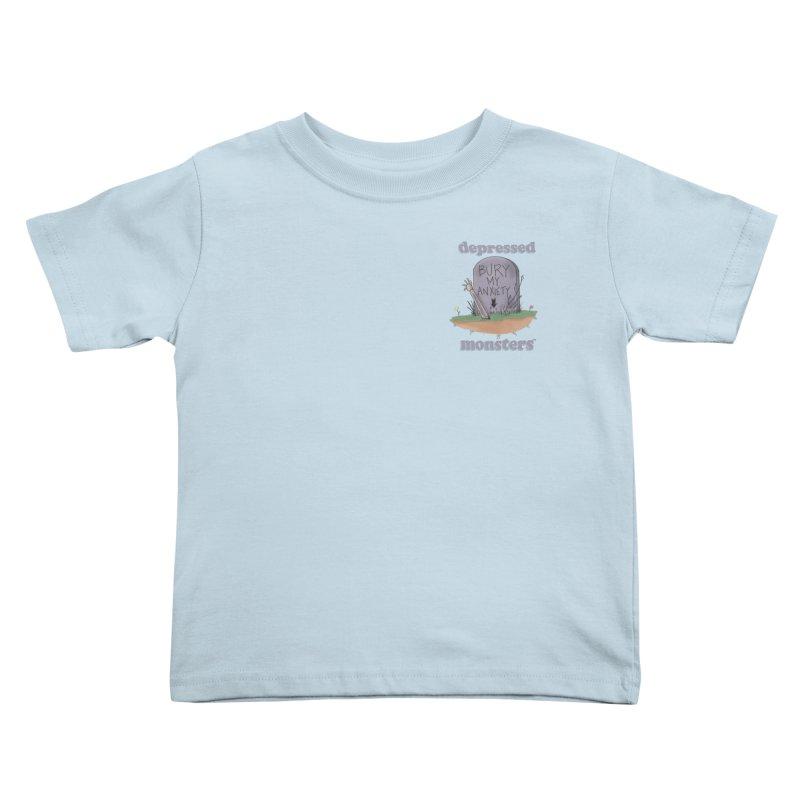 Bury My Anxiety Logo Tee by Ryan Brunty Kids Toddler T-Shirt by Depressed Monsters