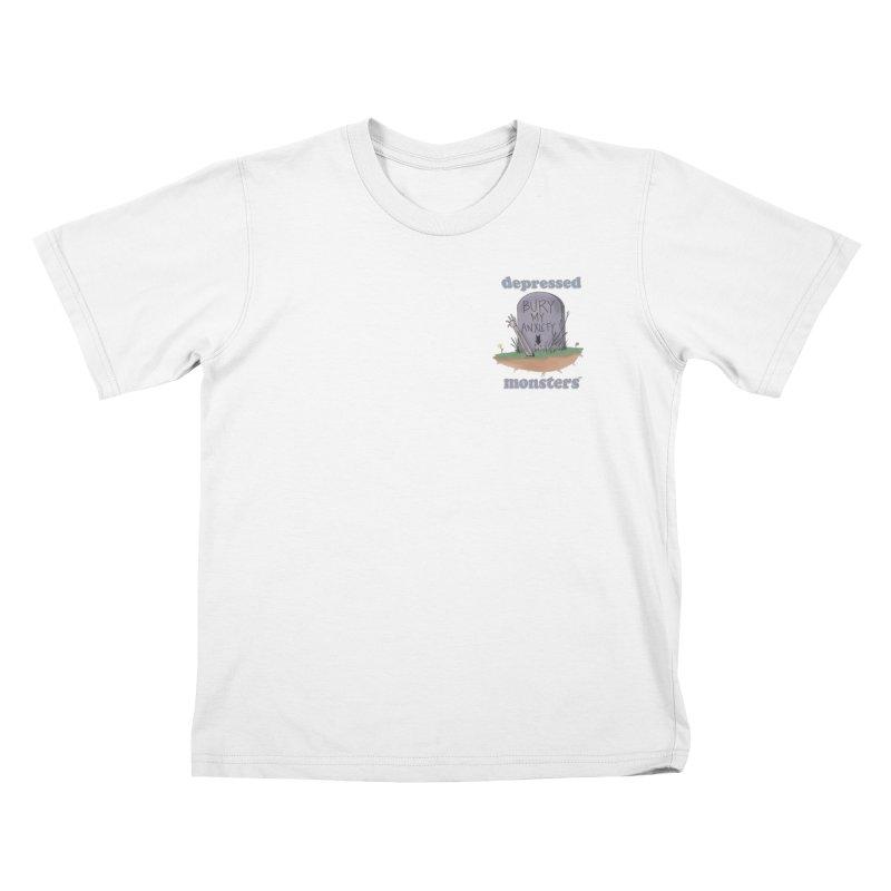 Bury My Anxiety Logo Tee by Ryan Brunty Kids T-Shirt by Depressed Monsters