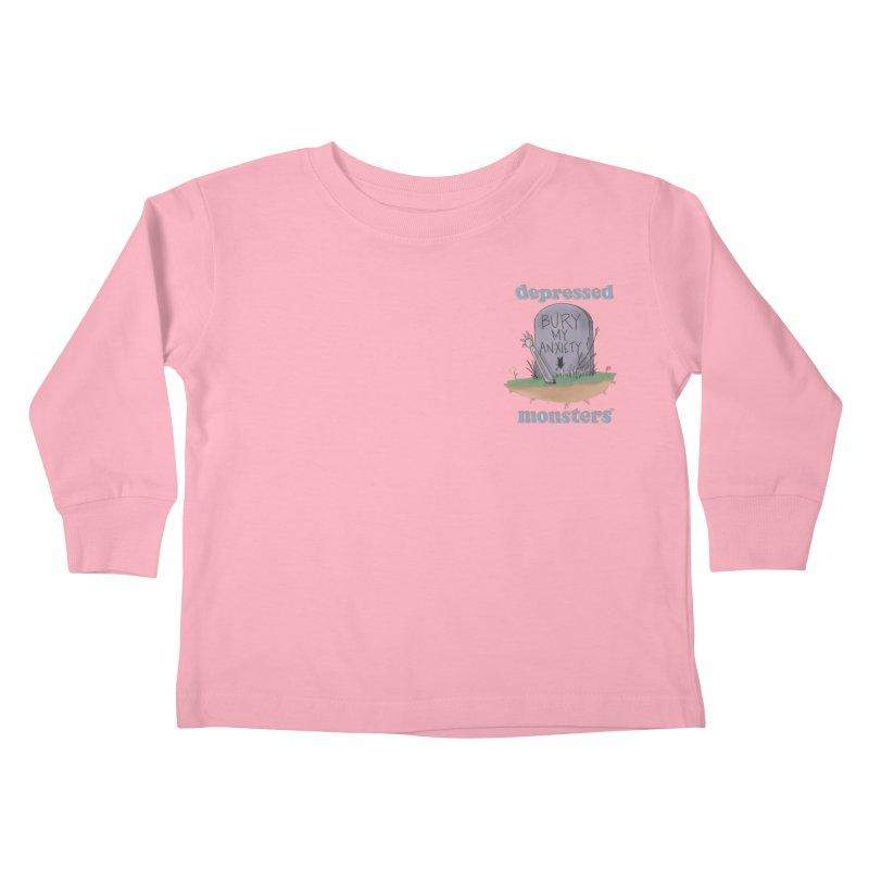 Bury My Anxiety Logo Tee by Ryan Brunty Kids Toddler Longsleeve T-Shirt by Depressed Monsters