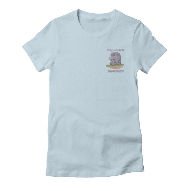 Bury My Anxiety Logo Tee by Ryan Brunty Women's T-Shirt by Depressed Monsters
