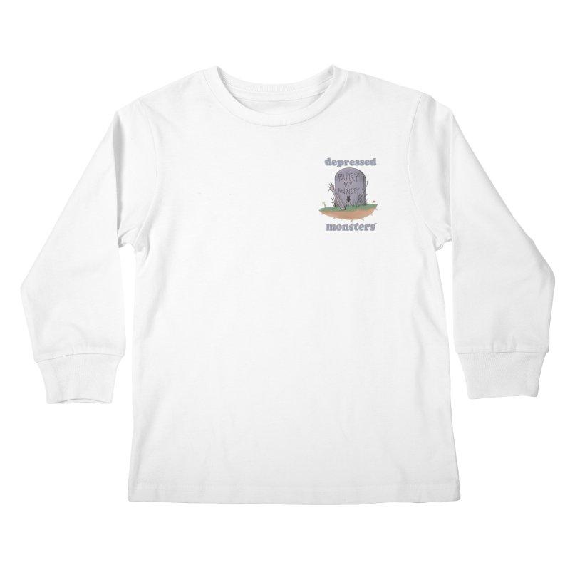 Bury My Anxiety Logo Tee by Ryan Brunty Kids Longsleeve T-Shirt by Depressed Monsters