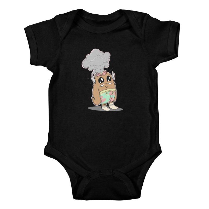 Brain Fried© Kids Baby Bodysuit by Depressed Monsters
