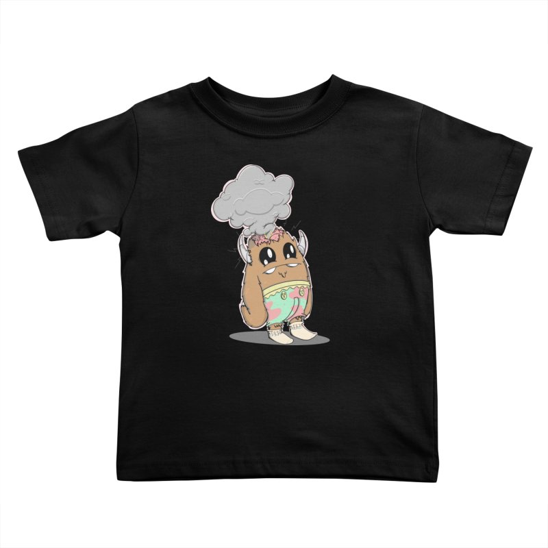 Brain Fried© Kids Toddler T-Shirt by Depressed Monsters
