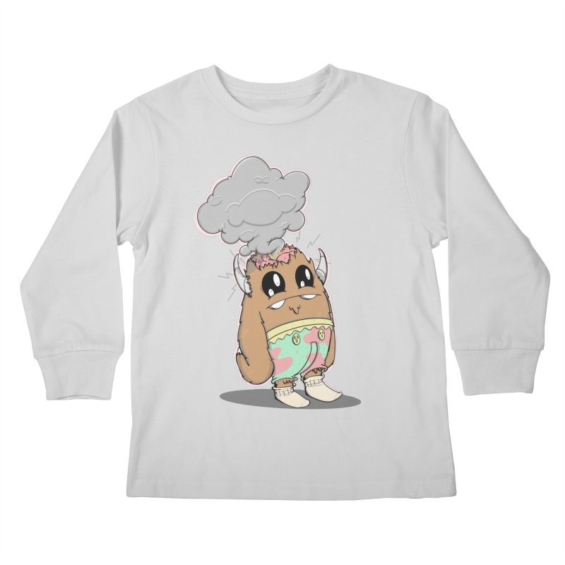 Brain Fried© Kids Longsleeve T-Shirt by Depressed Monsters