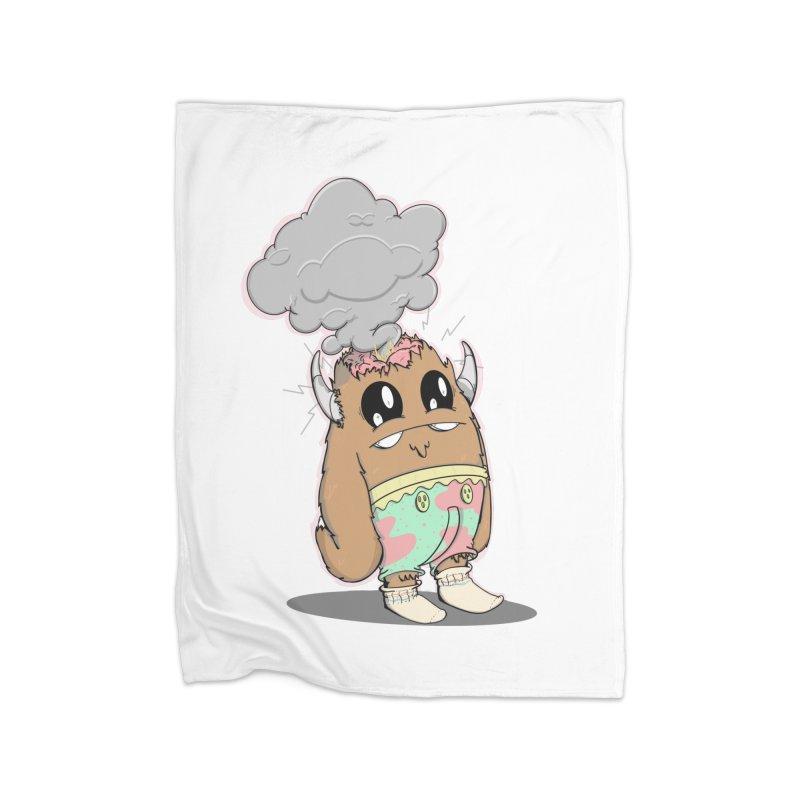 Brain Fried© Home Blanket by Depressed Monsters