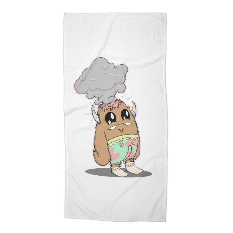 Brain Fried© Accessories Beach Towel by Depressed Monsters