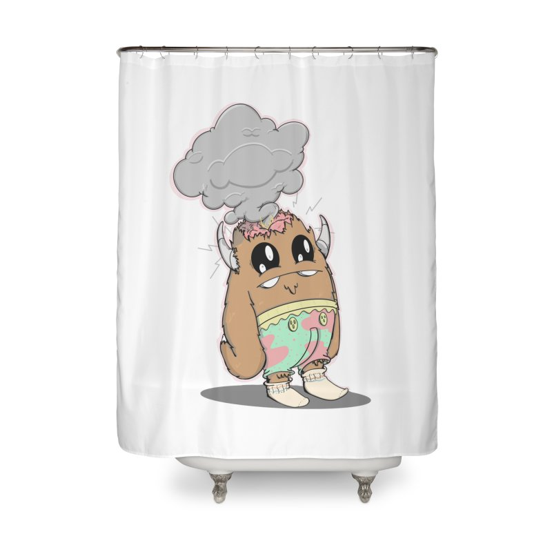 Brain Fried© Home Shower Curtain by Depressed Monsters