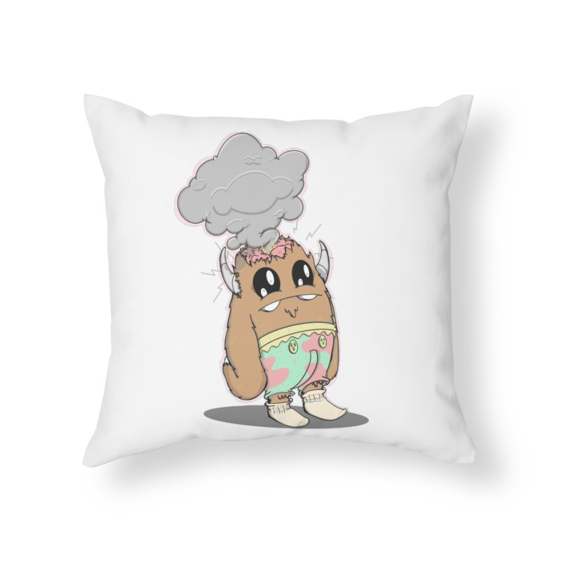 Brain Fried© Home Throw Pillow by Depressed Monsters