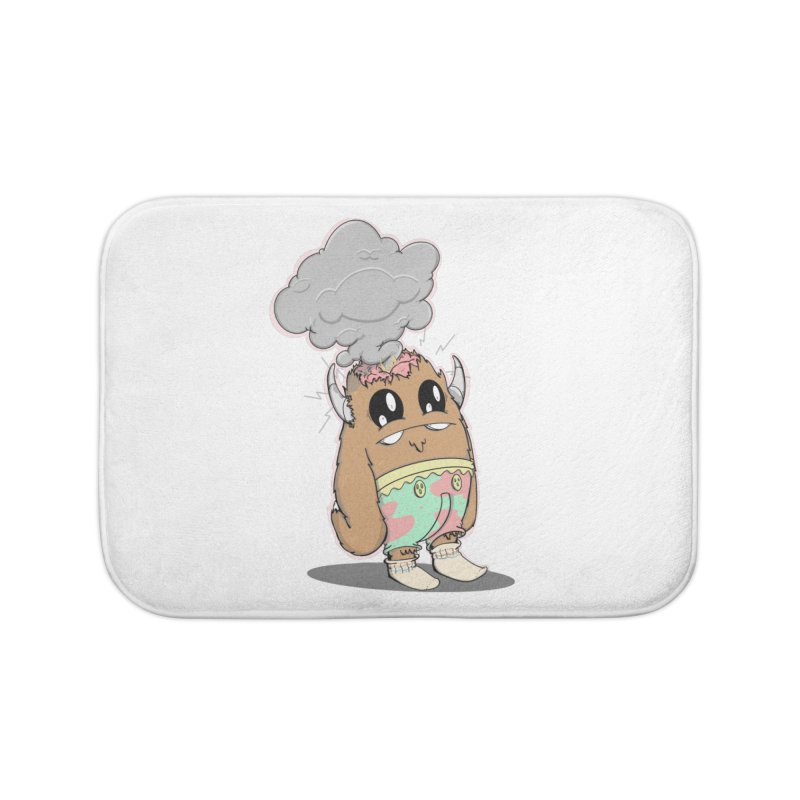 Brain Fried© Home Bath Mat by Depressed Monsters