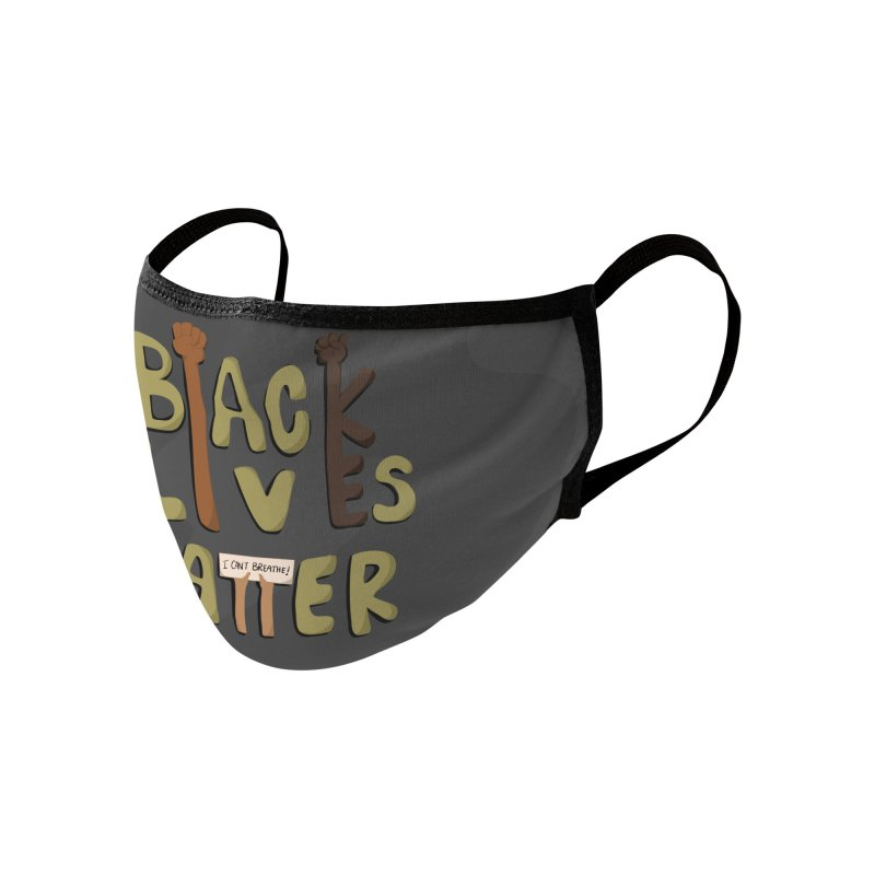 Black Lives Matter Face Mask Accessories Face Mask by Depressed Monsters