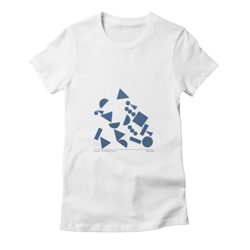 Artist Series 06.2: NosE la nariz Women's Fitted T-Shirt by Design Museum of Chicago